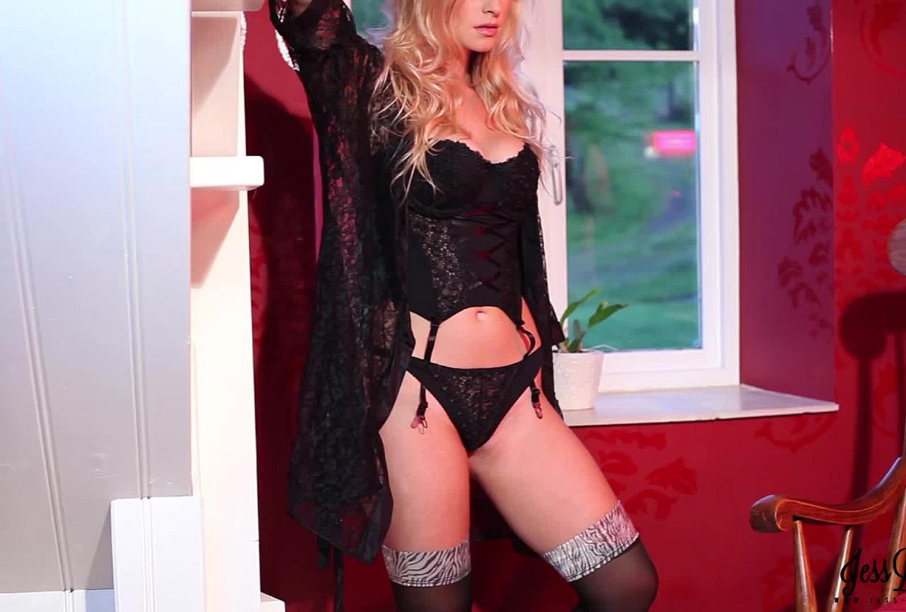 Black Sheer Bodysuit & Stockings